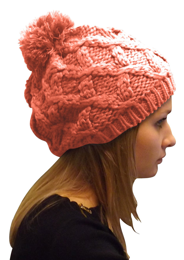 A3241-Cable-Knit-Pom-Hat-Pink-KL