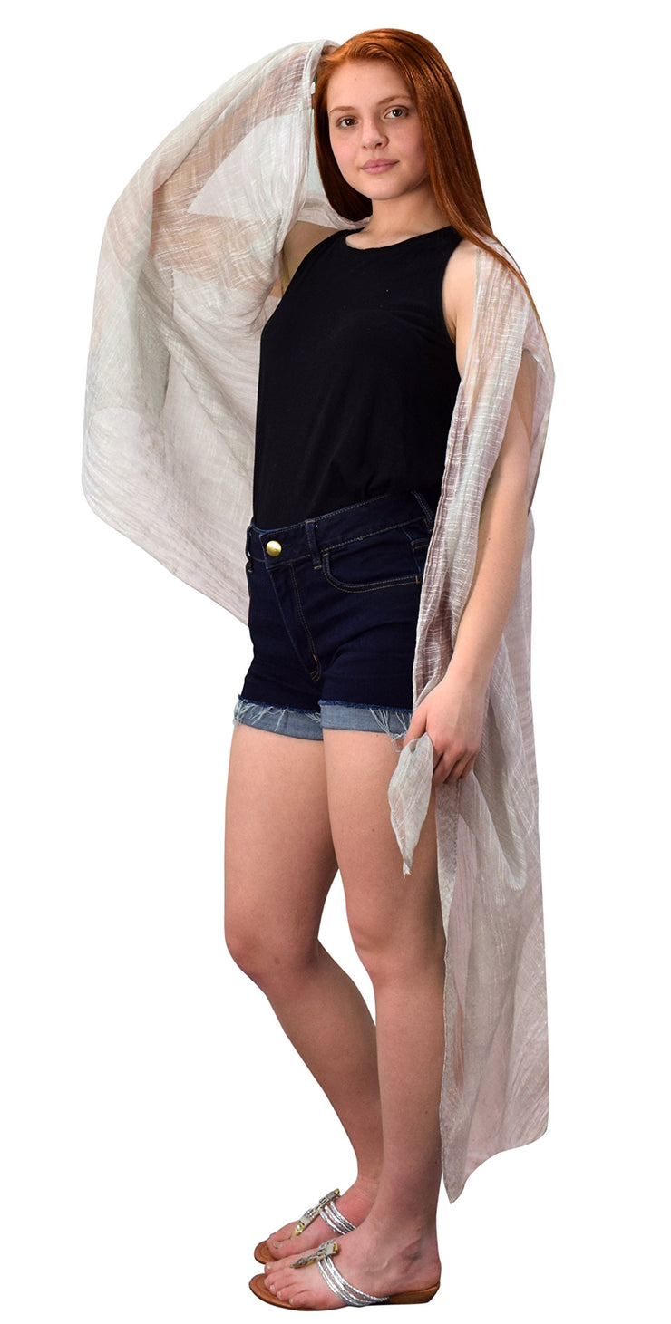 Sheer Open Front Cardigans Tasseled Hem Tunic Kimono Beach Wear