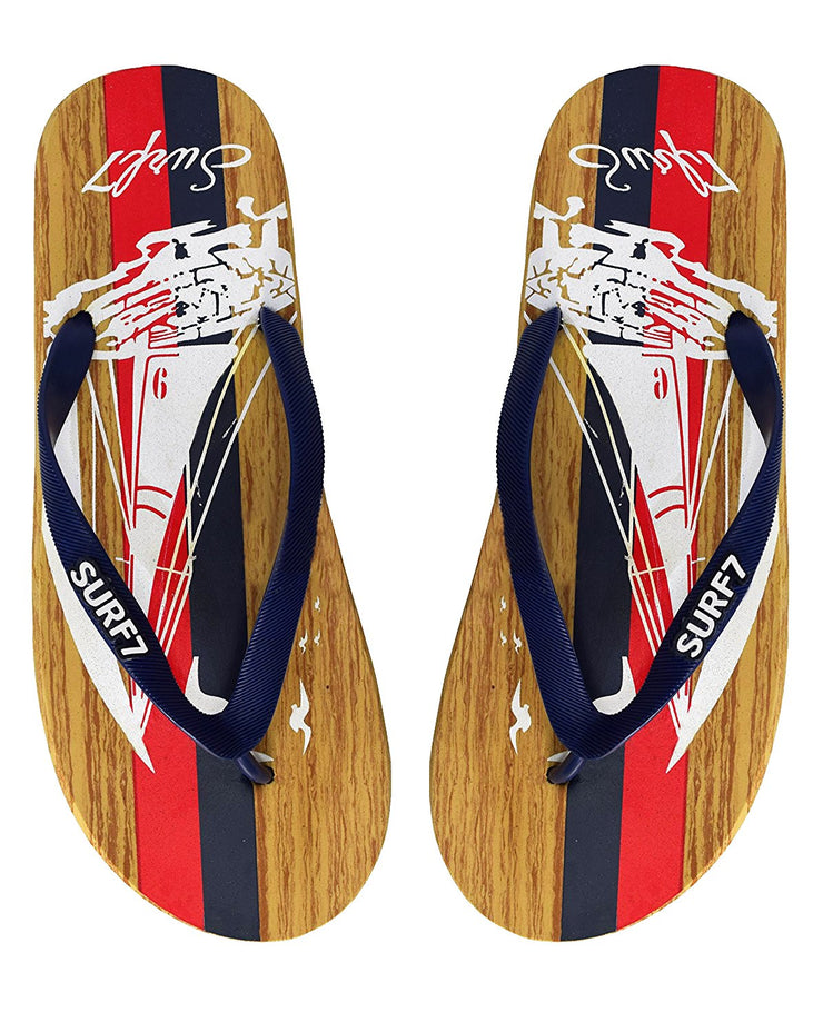 Mens Beach Flip Flops Textured Strappy Slip On Beach Sandals
