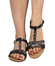 Womens Open Toe Strappy Ankle Buckle Gladiator Sandals Flip Flops