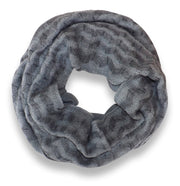 Dark Grey Charming Classic Knit Chevron Infinity Loop Scarves