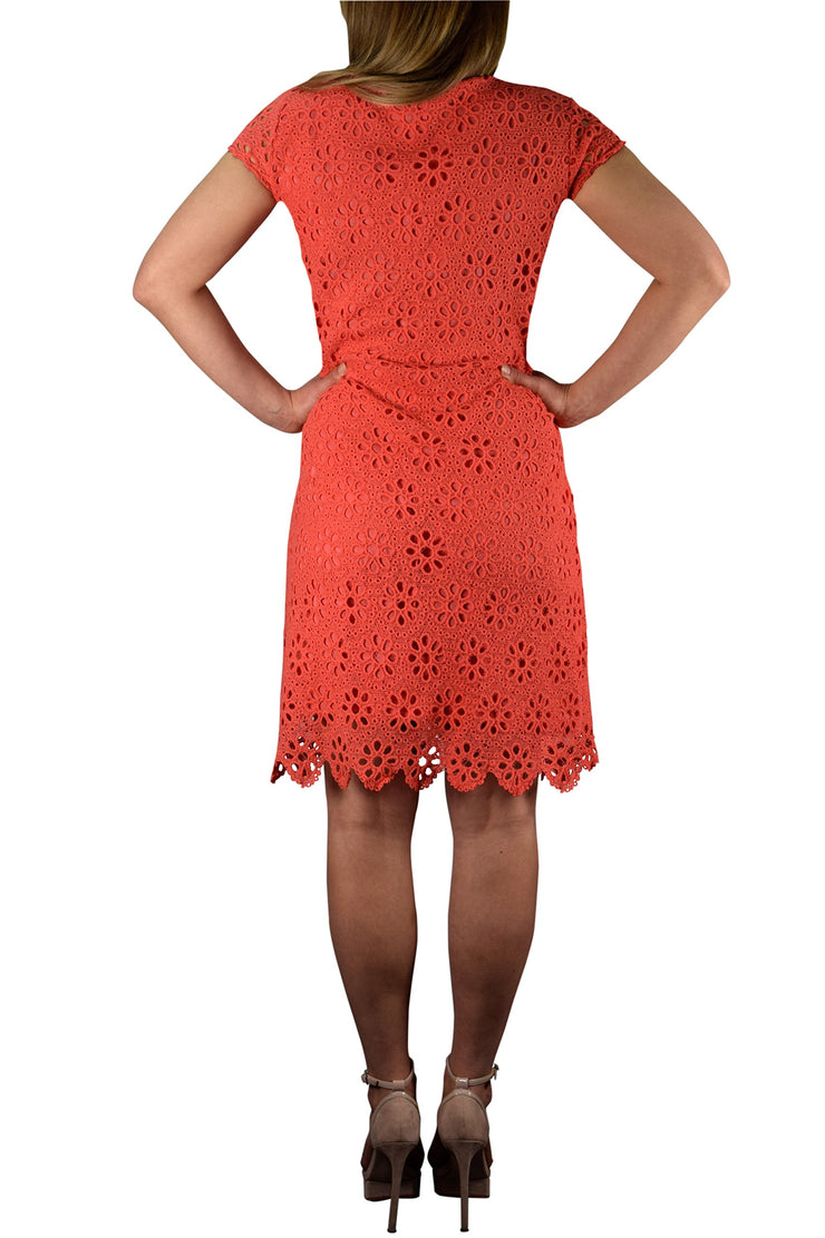 Womens Chic Summer Crochet Eyelet A Line Stylish Sleeveless Dress