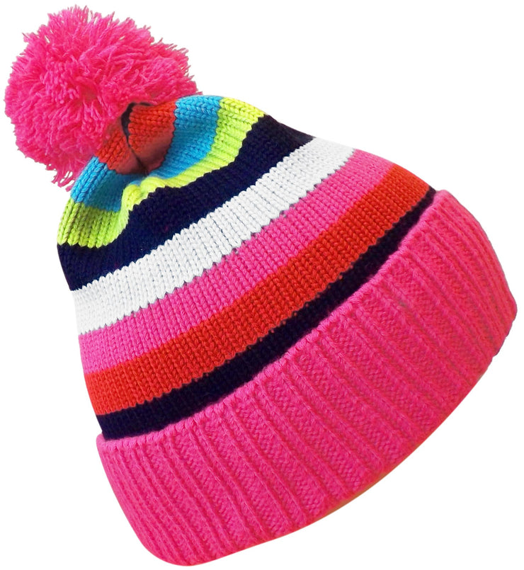 A3375-Vibrant-Striped-Pink-Kids-Hat-MRC