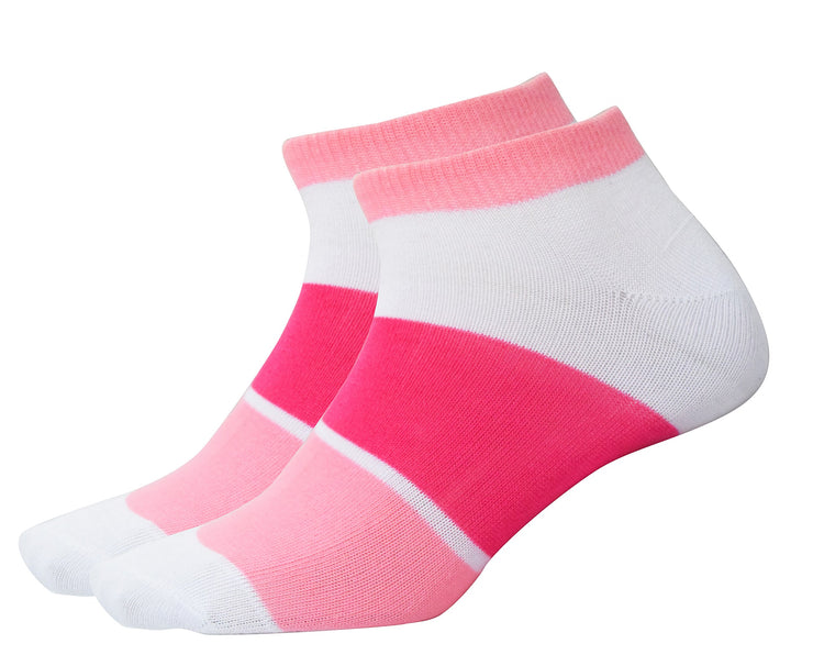 Peach Couture Color Block Stripped Socks Value 3 pack (Assorted Pack, Size 9-11)