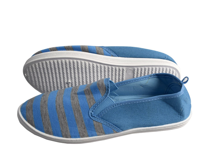 Striped Casual Summer Breathable Tennis Slip On Loafer Sneaker Shoes