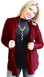 A2207-Knit-Cardigan-Maroon-Large