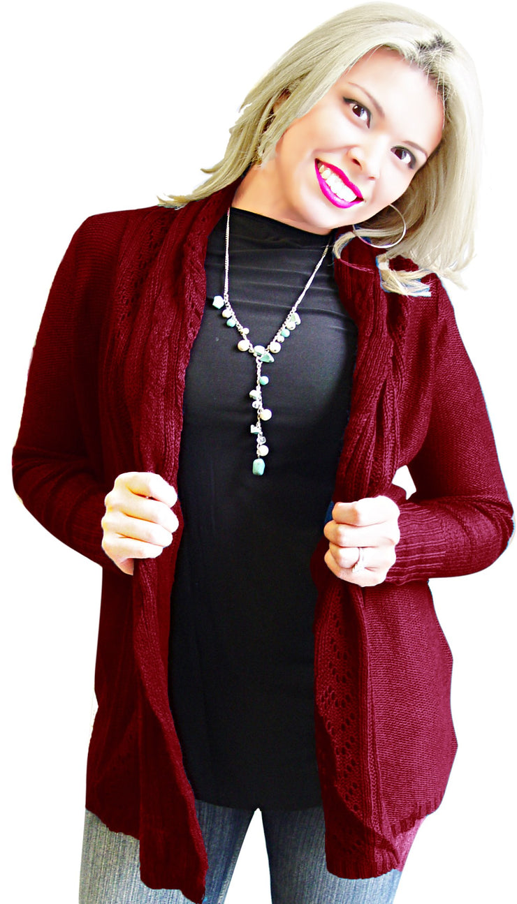 A2207-Knit-Cardigan-Maroon-XL