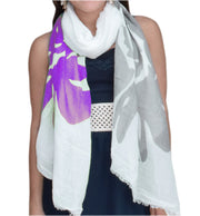 A5176-Abstract-Flower-Scarf-Purple-KL