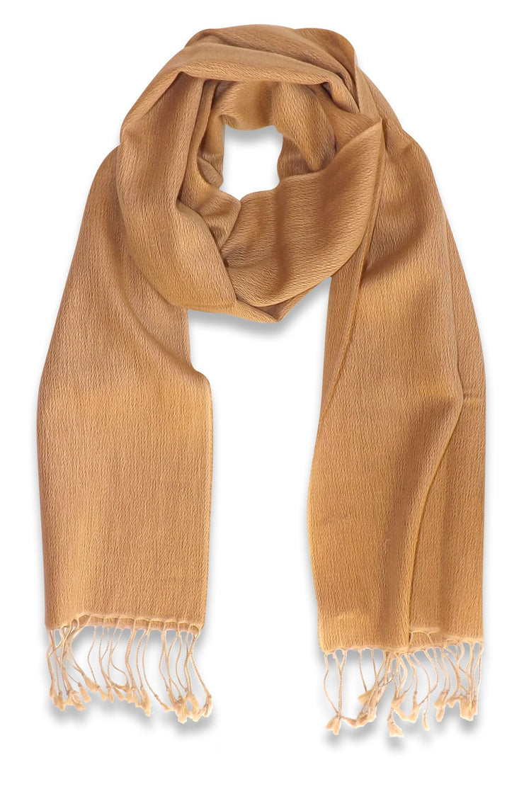 Peach Couture Extremely Soft Luxury Cashmere and Silk Scarf Stole Muffler