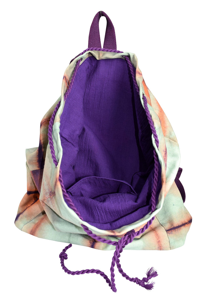 Cotton Canvas Drawstring Bags Cinch Backpacks with Straps