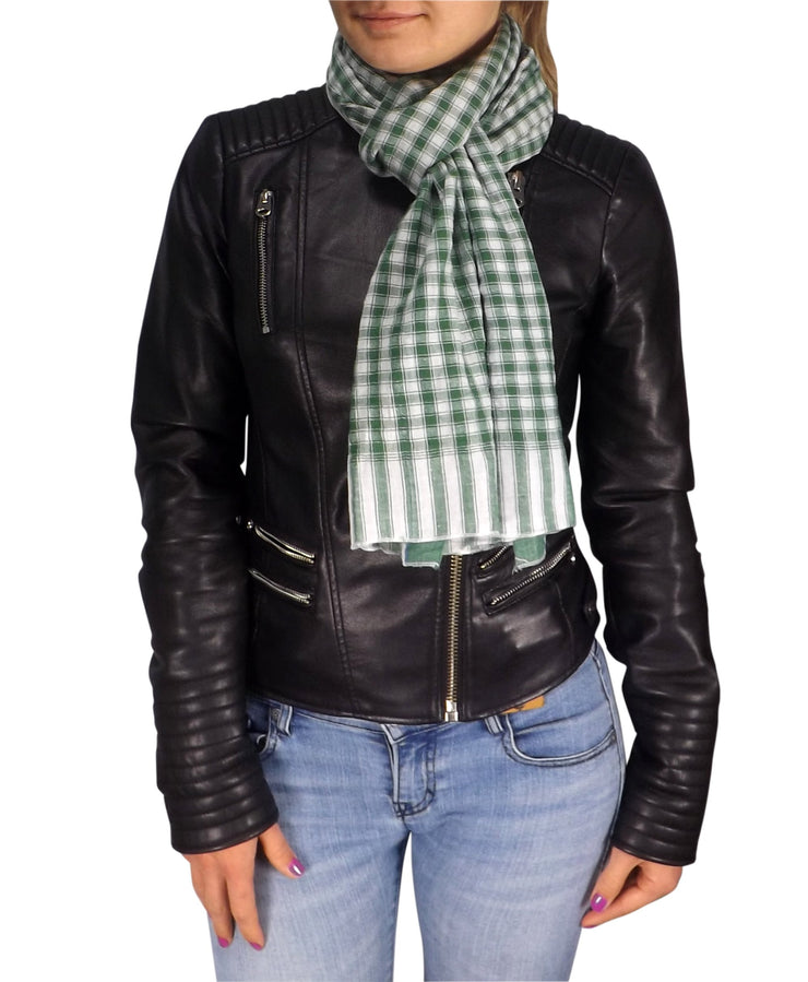 B1976-Checkered-Plaid-Scarf-Green-AC