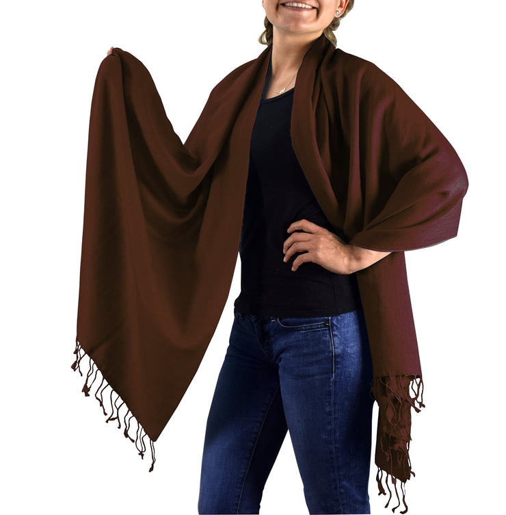 70/30-shawl-Chocolate Brown