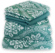 Couture Home Collection Lovely Damask Printed Light and Airy 100 % Wrinkle Free Sheet Set (King, Teal)
