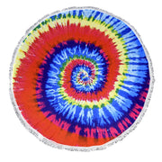 Roundie Beach Towel Yoga Mats Terry Cotton with Fringe Tassels Colors