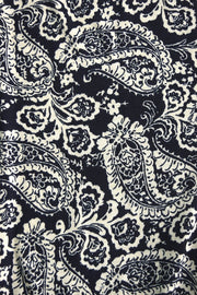 Two Tone Black Kaleidoscope Paisley Maxi Dress
