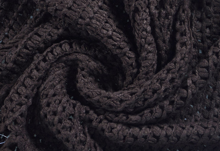 Womens Gorgeous Cozy Winter Knitted Square Pattern Infinity Loop Scarf