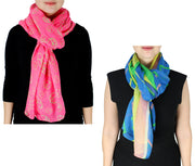 Womens Abstract Desgin Scarves Value Pack of 2