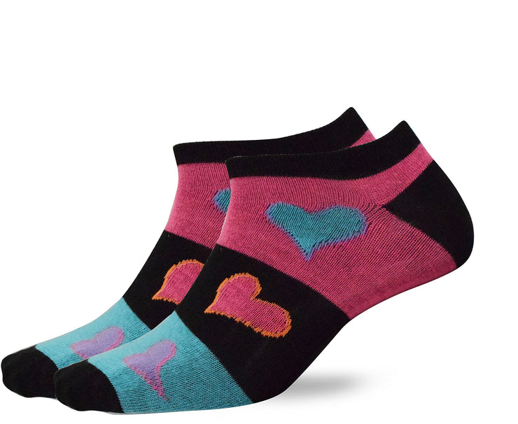 Fruit of the Loom Girl's Bright Hearts Colorful Value 5 pack Socks