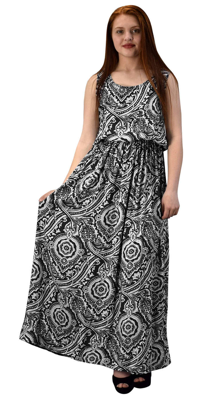 B2753-3816-MaxiDress-Black-M-A