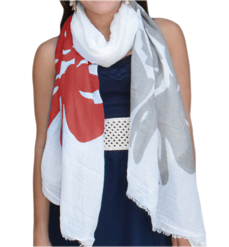 A5178-Abstract-Flower-Scarf-Coral-JG