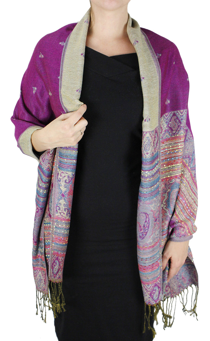 A7413-Tribal-Border-Pashmina-Fuchsia-RK