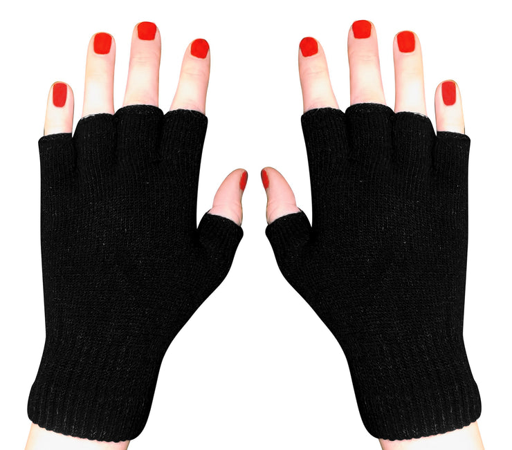 A3673-Fingerless-Glove-Plain-Black-KL