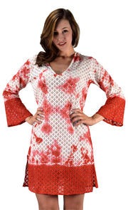 B0522-Lace-Tunic-Red-LXL-AJ