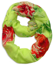A1038-Floral-Loop-Scarf-Lime-Green-KL