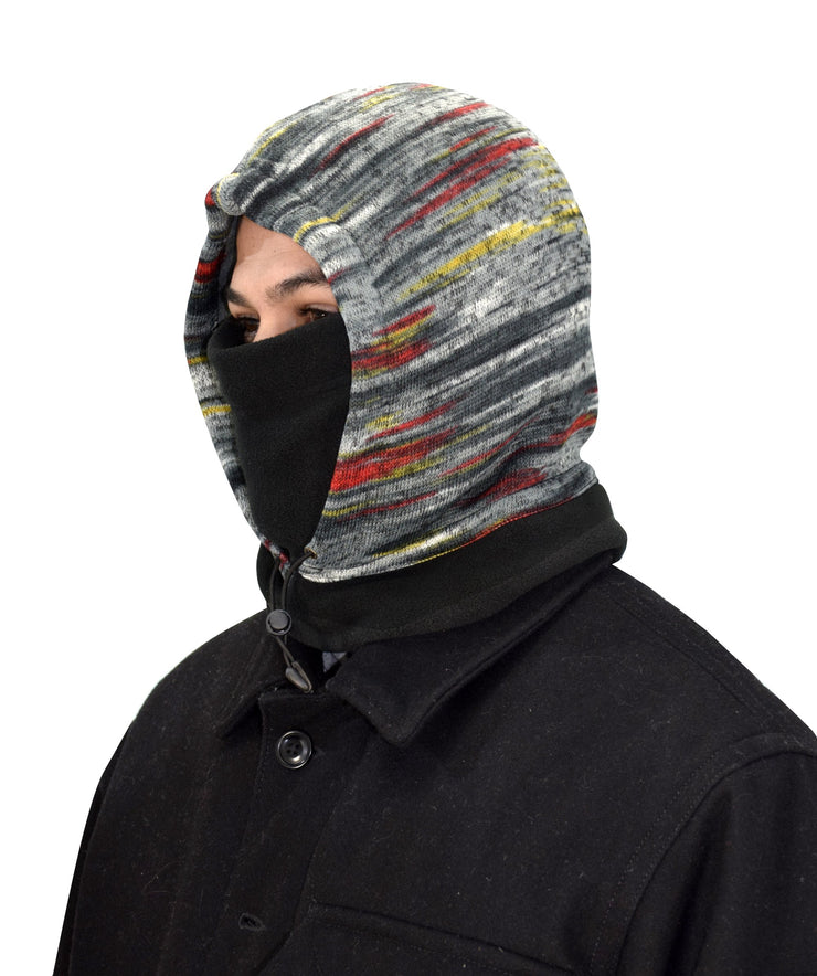 Thick Knit One Hole Facemask Balaclava Snowboarding Biker Mask (Faded Grey)