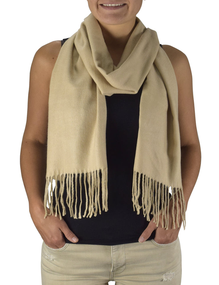 Peach Couture Soft and Warm Cashmere Feel Light Unisex Scarves