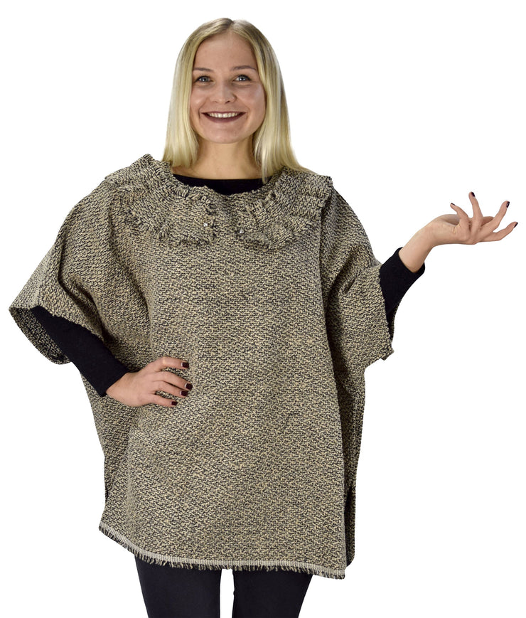 Oversize Sweater Turtle Neck Womens Marled Chunky Knit Pullover