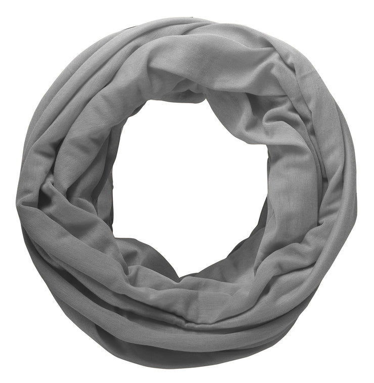 Dark Grey Peach Couture Cotton Soft Touch Vivid Colors Lightweight Jersey Knit Infinity Loop Scarf