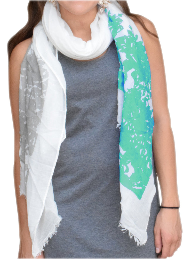 A5171-Abstract-Tree-Scarf-Mint-KL