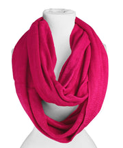 Soft and Warm Lightweight Cold Weather Solid Infinity Loop Scarf