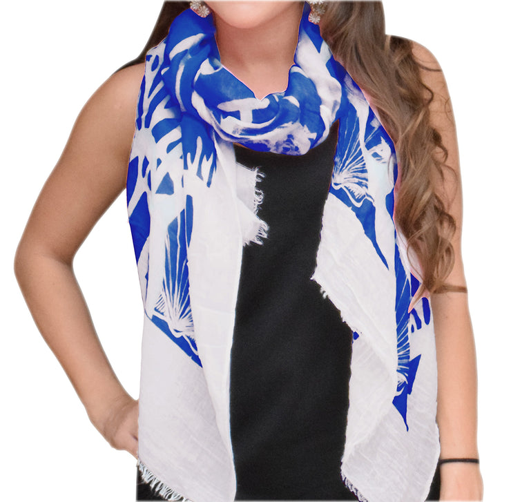 A5183-Nautical-Shell-Scarf-Blue-KL