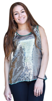 147-highLow-sequin-top-GREEN/S-LARGE-SI