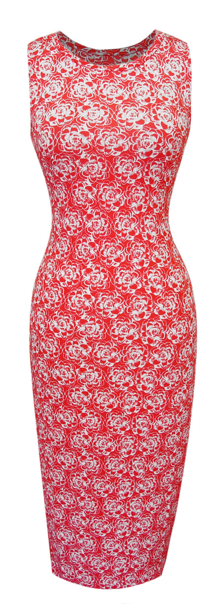 A1592-Floral-BodyconDress-Rose-Med-JG