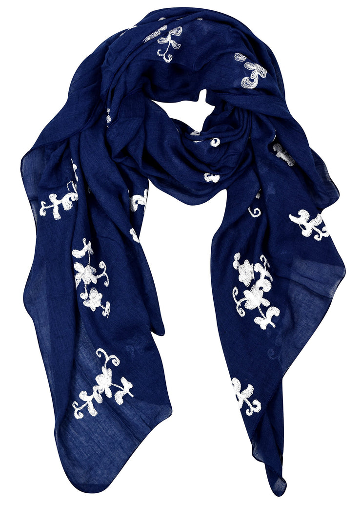 A6583-Floral-Embroidered-Pansy-Navy-KL