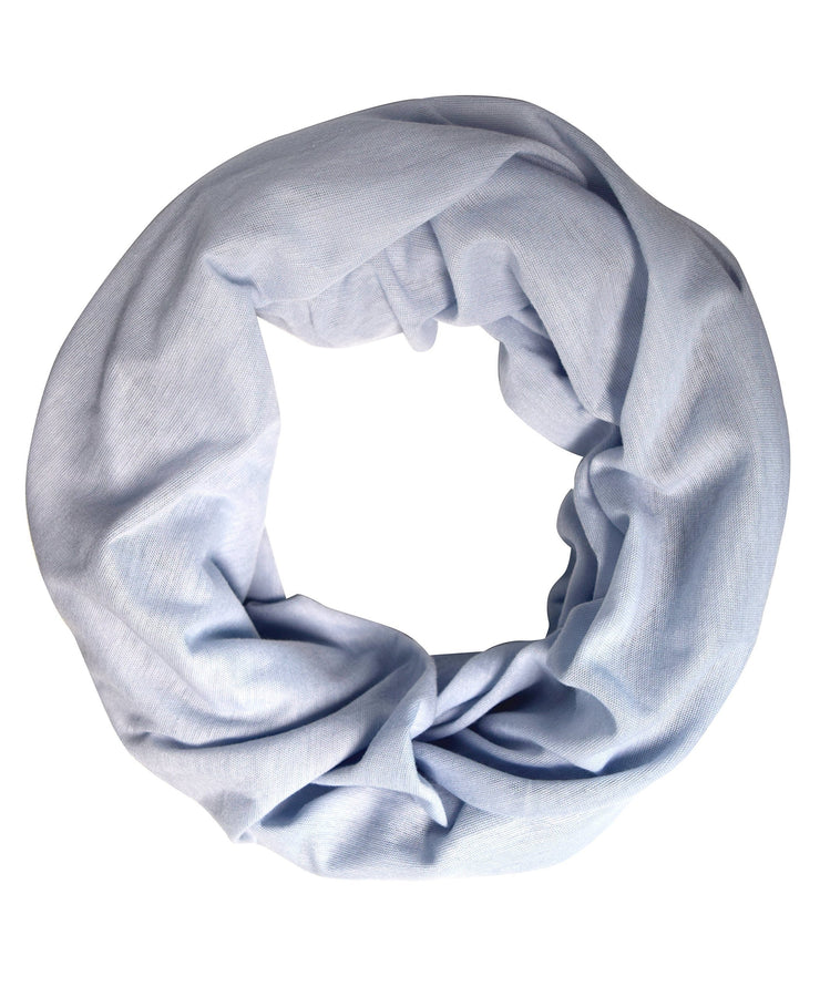 Silver Peach Couture Cotton Soft Touch Vivid Colors Lightweight Jersey Knit Infinity Loop Scarf