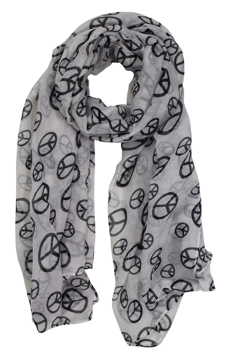 Peace-Sign-Scarf-White-FBA-D&B