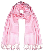 Peach Couture Womens Elegant Vintage Solid Jacquard Paisley Scarf Shawl Wrap
