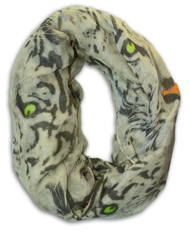 Animal Tiger Print Scarves Infinity Loop Scarf Wrap