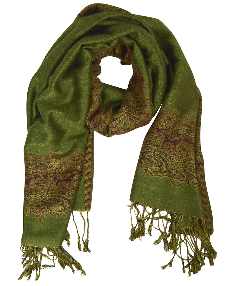 Pashmina-Army-Green-Red-PNC