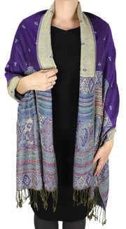 A7411-Tribal-Border-Pashmina-Purple-RK