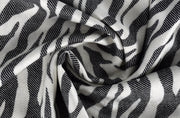 Hot Chic Animal Print Zebra Print Frayed End Pashmina Shawl Wrap