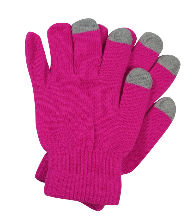 Bright Neon Texting Winter Gloves For iPhone iPad Android Any Touch Screen