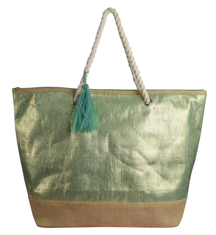 B7116-BB554-Sequin-Tote-Green-OS