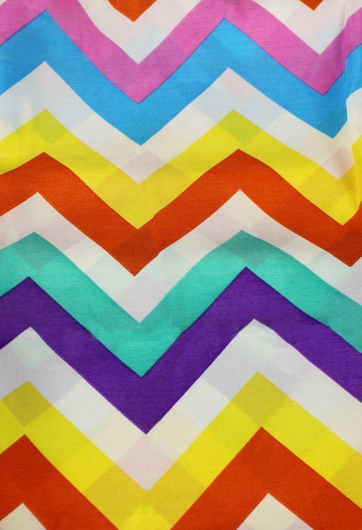 Summer fashion Bright and Beautiful Chevron Design Infinity Scarf