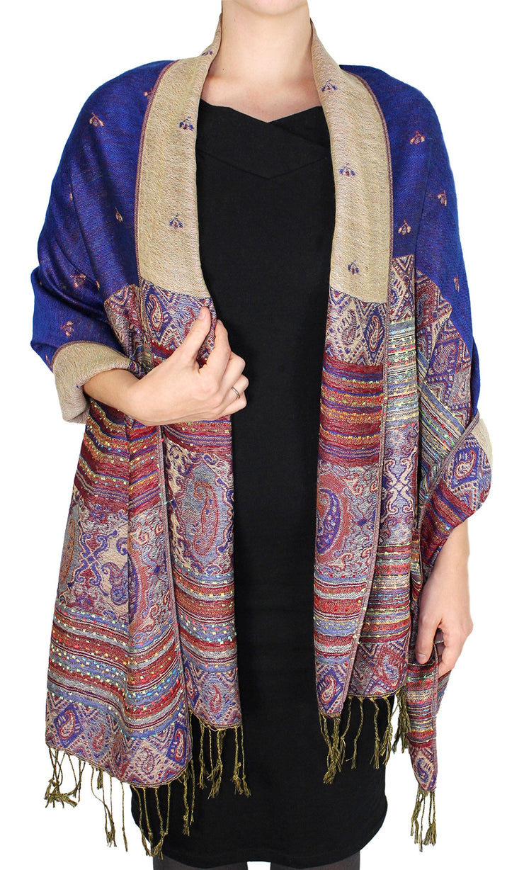 A7536-Tribal-Border-Pashmina-R.Blue-Rk