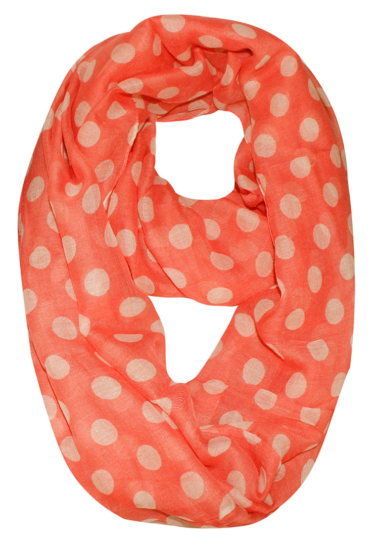 Best Of Both Worlds Polka Dot and Floral Sheer Infinity Scarf Loop